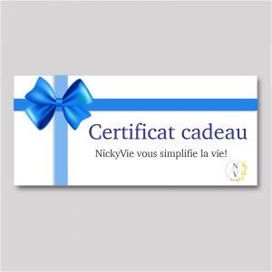Concierge gift certificate